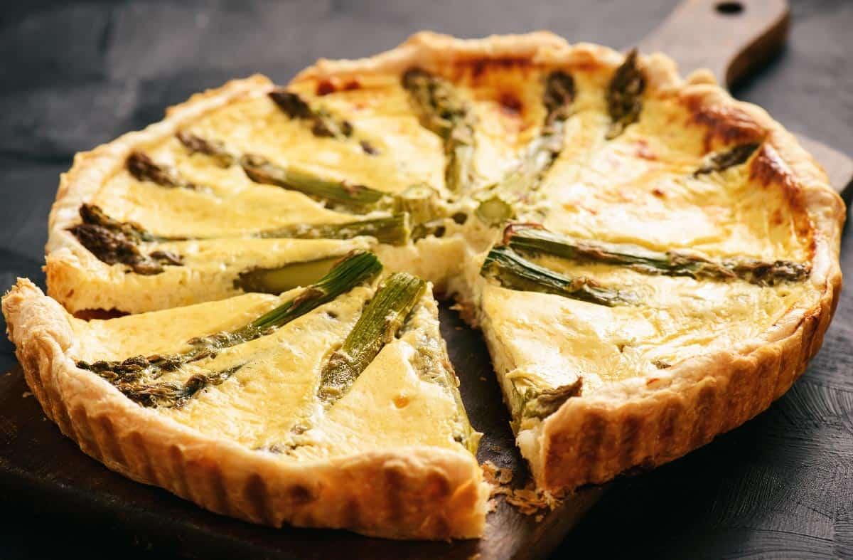 Quiche mit grünem Spargel Rezepte